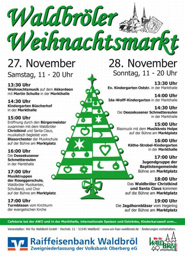 Waldbröler Weihnachtsmarkt & verkaufsoffener Sonntag 2010 - Neue Weihnachtsbeleuchtung erhellt die Waldbröler Innenstadt: Endlich ist es wieder so weit; die Weihnachtsbeleuchtung erhellt die Waldbröler Innenstadt. Wo im vergangenen Jahr noch […]