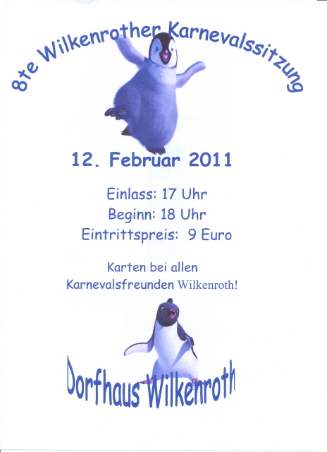 12. Februar 2011: Achte Wilkenrother Karnevalssitzung
